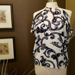EXPRESS Cold Shoulder Print Blouse Size XS